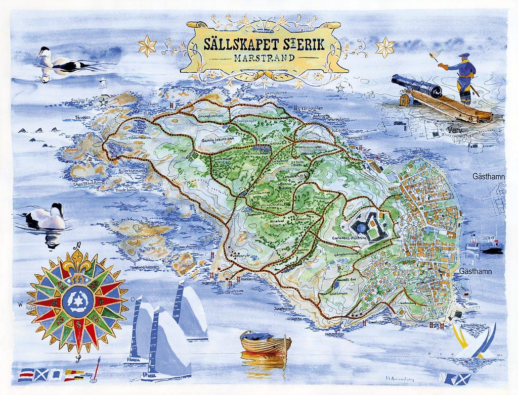 Karta Vastkusten Bohuslan.Karta Over Marstrand Vastkusten Bohuslan